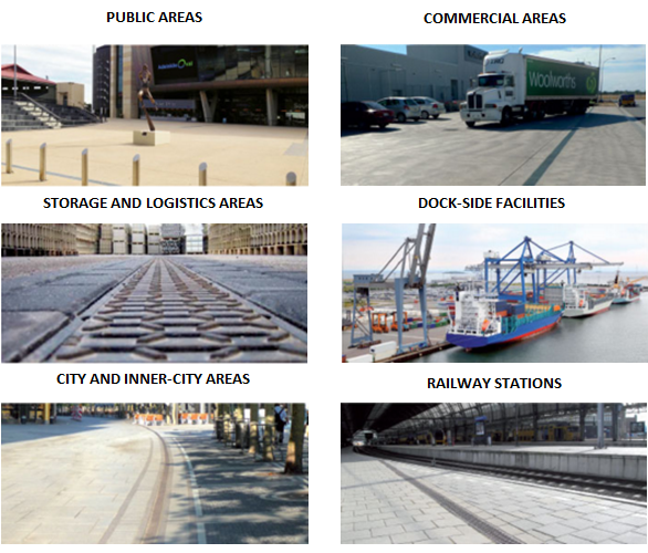 Applications for MEA Polymer concrete channels and grates