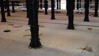 height adjustable buzon pedestal beneath deck
