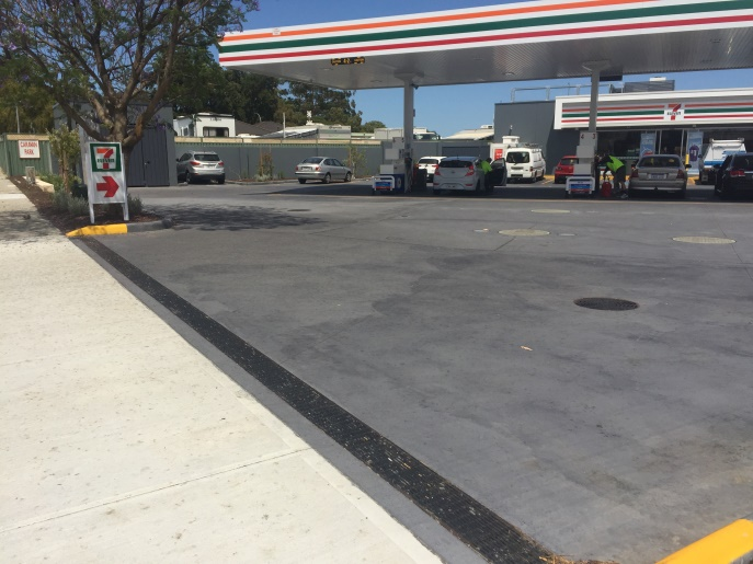 MEA Grate Service stations driveway