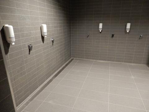 ultimate custom channel and grate system Optus change rooms